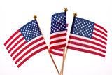 USA Flags Stock Photo