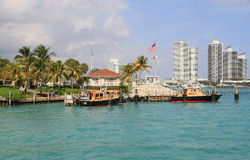 USA,Florida/Miami: Biscayne Bay Pilot Boat Station/Boats Stock Photos