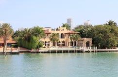 USA,Florida/Miami: Luxurious Waterfront House Stock Photos