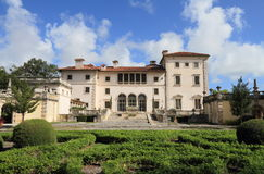 USA Florida/Miami: Turist- dragning - villa Vizcaya Royaltyfria Foton