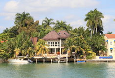 USA,Florida/Miami: Waterfront Home Stock Image
