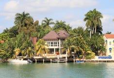 USA,Florida/Miami: Waterfront Home Stock Image