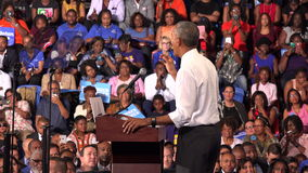 President of USA Barack Obama meet with students of Florida. USA, FLORIDA, OCTOBER 20, 2016: President of USA Barack Obama meet with students of Florida Memorial stock video footage