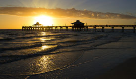 USA, Floryda, fortu Myers plaża Fotografia Royalty Free