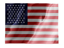 USA fluttering. Fluttering image of the American national flag Royalty Free Stock Image