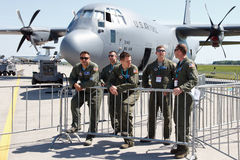 USA-flygvapen C-130 Hercules Royaltyfria Foton