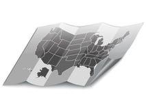 USA folded map. Stock Images