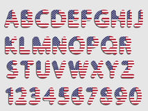 Usa font alphabet and numeral Royalty Free Stock Photos