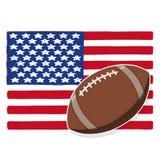 USA football ball illustration. Football ball with American flag illustration; USA flag Royalty Free Stock Photography