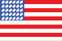 USA football flag 2 Stock Photos