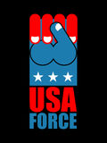 USA force hand. American fist. Symbol of USA Patriot. United Sta Royalty Free Stock Image