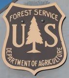 USA Forest Service Emblem royaltyfria bilder