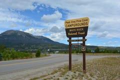 USA Forest Service Sign Royaltyfria Bilder