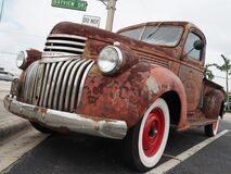 Close up of 1941 Chevy AK pickup truck with simulated rust paint