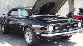 Black 1967 Chevrolet camaro ss, american muscle car