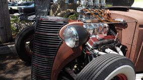 Closeup of Rat rod based on Ford`s model A motor