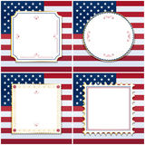 Usa frames Royalty Free Stock Photo