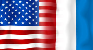 Usa-France Flag Royalty Free Stock Photo