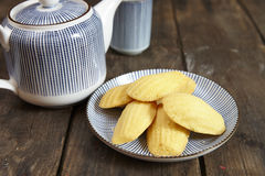 USA. French traditional madeleines cookie, isolated Royalty Free Stock Photo