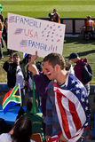USA-Fußball-Verfechter - FIFA-WC 2010 Lizenzfreies Stockbild