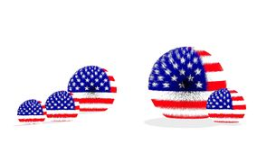 USA fur ball flag Stock Photography