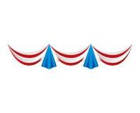 Usa garlands celebration isolated Stock Image