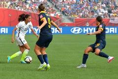 USA gegen Australien-Nationalmannschaften Weltcup FIFAS Women's Stockfotografie