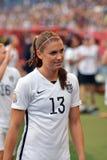 USA gegen Australien-Nationalmannschaften Weltcup FIFAS Women's Stockbild