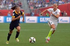 USA gegen Australien-Nationalmannschaften Weltcup FIFAS Women's Lizenzfreies Stockbild