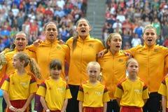 USA gegen Australien-Nationalmannschaften Weltcup FIFAS Women's Lizenzfreie Stockfotos