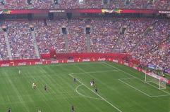 USA gegen Japan-Schluss an Weltcup 2015 FIFAS Women's Stockfoto