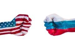 USA gegen Russland Lizenzfreie Stockfotos