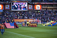 USA gegen Slowenien - FIFA-WC 2010 Lizenzfreies Stockfoto