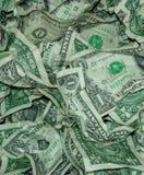 USA-Geld-Währung zerknitterte nah herauf Hintergrund lizenzfreies stockfoto