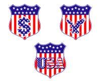 USA geraldic shileds and blazons Stock Image