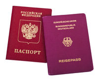 Double Nationality - Russian & German Stock Photo