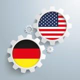 USA Germany Partnership Gears Royalty Free Stock Photos