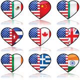 USA geteilte Liebe Stockfotos