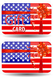 Usa gift card. Isolated on white background Stock Photo