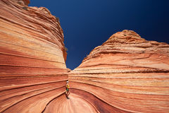 USA - girl in the Coyote buttes recreational park - The wave Stock Photography
