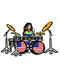 USA girl drummer Stock Photos