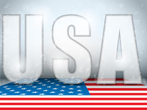 USA Glass Letters with Flag Background Royalty Free Stock Image