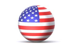 USA Globe Stock Image