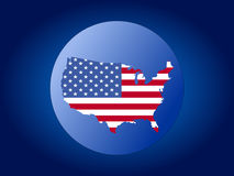 USA globe illustration Royalty Free Stock Image