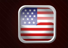 USA glossy button Royalty Free Stock Photo