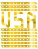 USA-GOLDaufkleber AUF LOKALISIERTEM HINTERGRUND Stockfoto