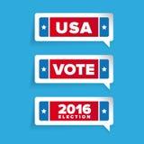 Usa, głosowanie etykietki set Fotografia Royalty Free