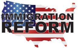 USA Government Immigration Reform US Map Illustration Royalty Free Stock Photo
