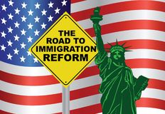 USA Government Road to immigration Reform Statue of Liberty Stock Images