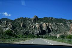 USA Gråa berg Utah arkivfoton